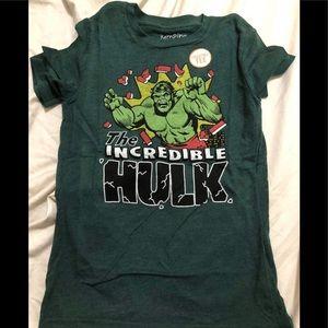 Incredible hulk kids shirt size 10.